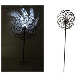 68 Solar Dual Kinetic Windmill Stake with LED Light