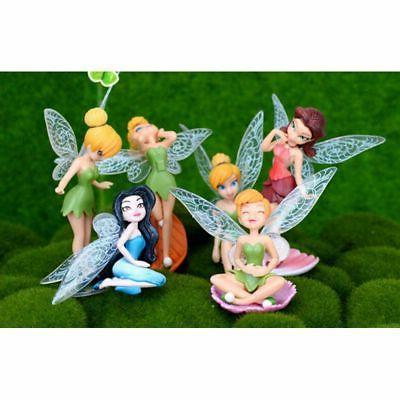6pcs Flower Fairy Miniature Garden Yard Gift