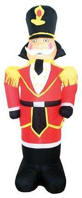 7 FT LED LIGHTED NUTCRACKER TOY SOLDIER AIRBLOWN INFLATABLE