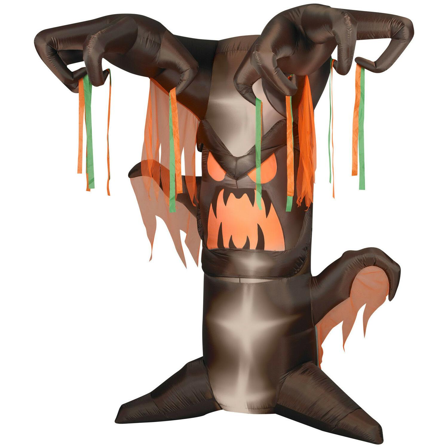 8 animated frightening tree halloween airblown inflatable