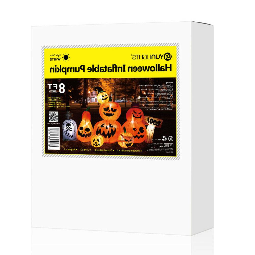 8 Halloween Inflatable Tombstone Pumpkins Party LED Yard