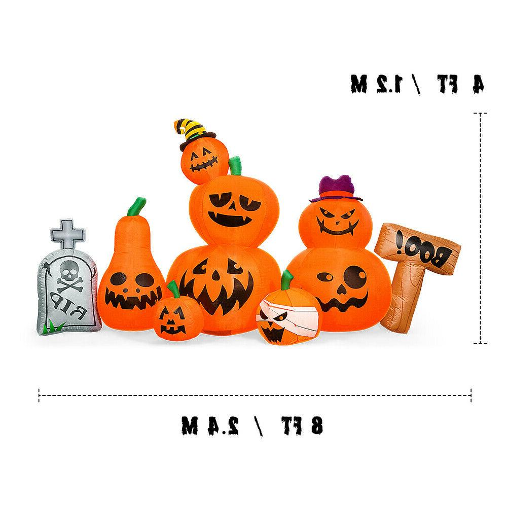8 Foot Inflatable Tombstone Pumpkins Party Yard