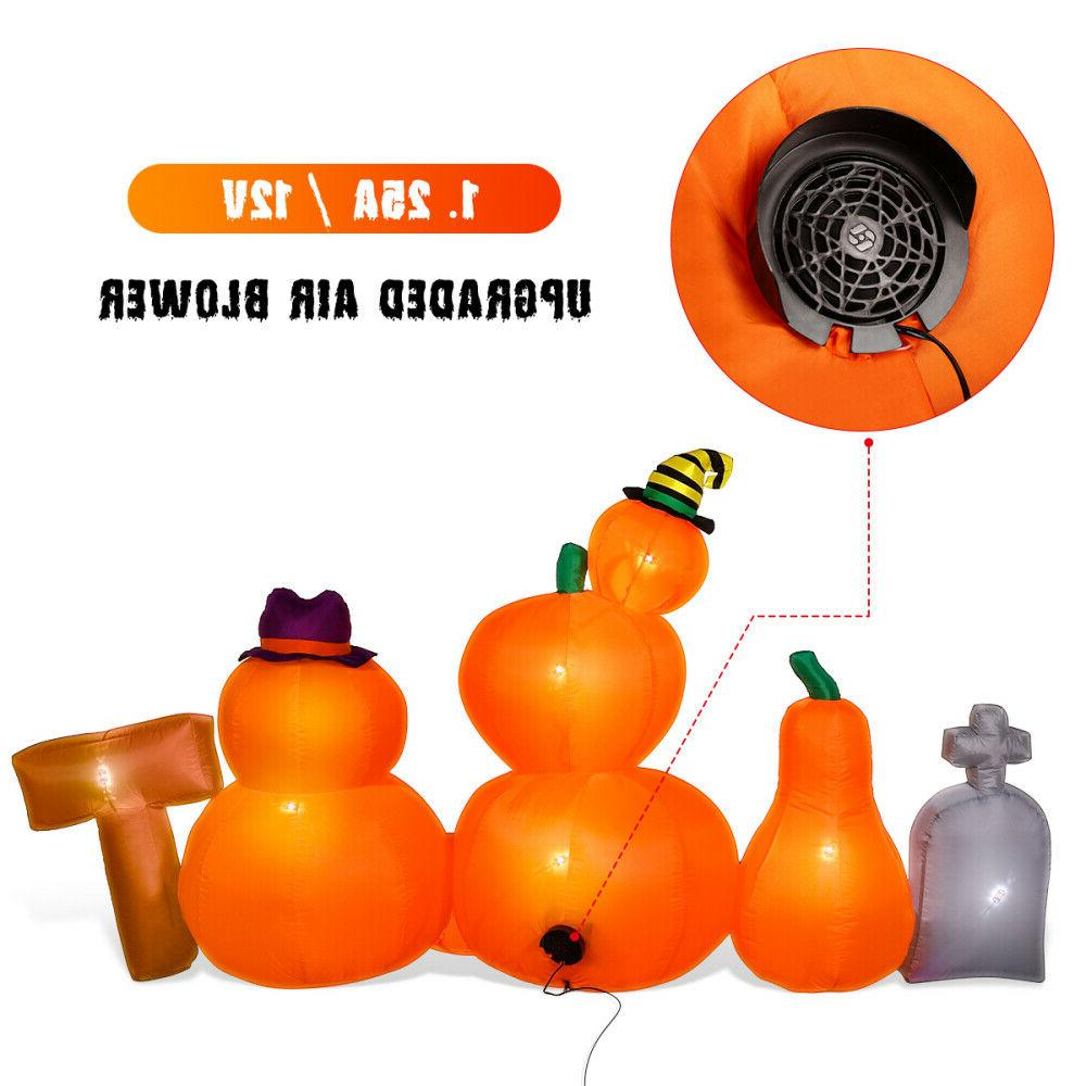 8 Inflatable Tombstone Patch Party LED Decor