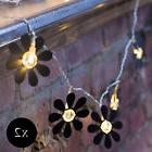 8 LED Novelty Mini Black Daisy Flower Battery Indoor Outdoo
