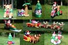 9 Style Image Christmas Lighted Airblown Inflatable Santa Ou