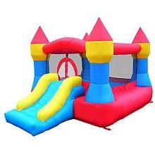 Castle Inflatable Bounce House w/ Slide  Blower Included