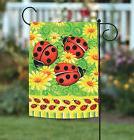 NEW Toland - Ladybugs on Green - Bright Colorful Ladybug Flo