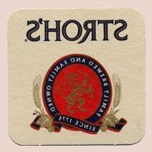 Stroh Brewery Company Stroh's Paperboard Coasters - Set of 4