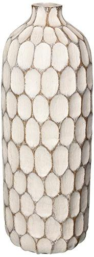 Torre & Tagus 901112 Carved Divot Resin Vase, Tall