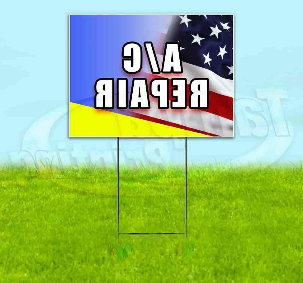 a c repair yard sign corrugated plastic