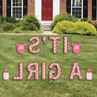 It's A Girl - Outdoor Lawn Decor - Baby Shower Announcement