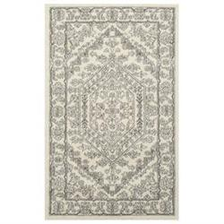 Adirondack Ivory and Silver Area Rug, 3' x 5'