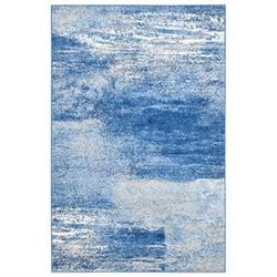 Adirondack Silver and Blue Area Rug, 5'1 x 7'6