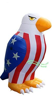 air blown inflatable patriotic american bald eagle