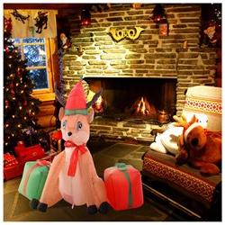 Costway 4Ft Airblown Inflatable Christmas Xmas Reindeer Gift