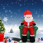 6 Ft Airblown Inflatable Christmas Xmas Santa Claus Sofa Dec