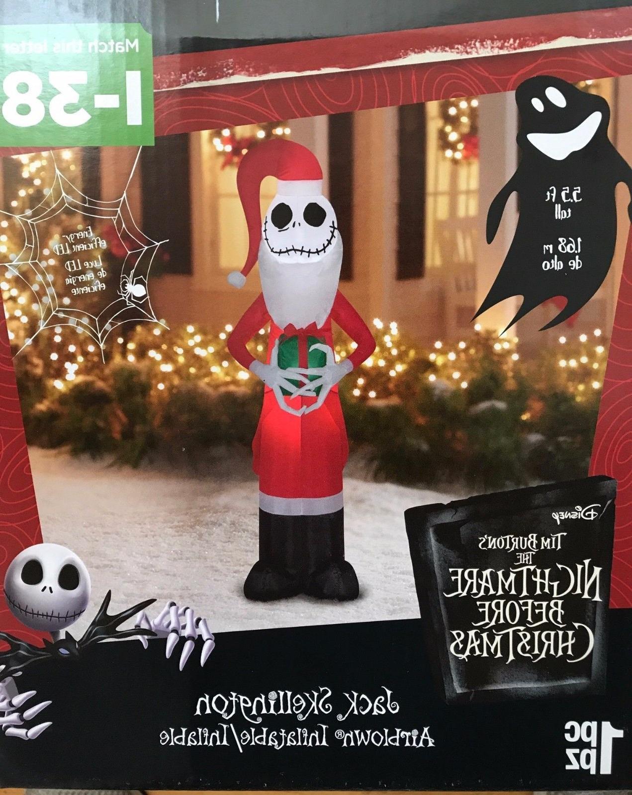 Airblown Inflatable Jack Skellington as Santa with Present 5