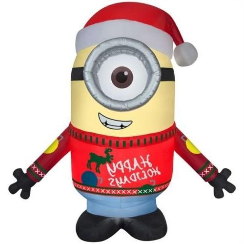 airblown minion carl merry christmas
