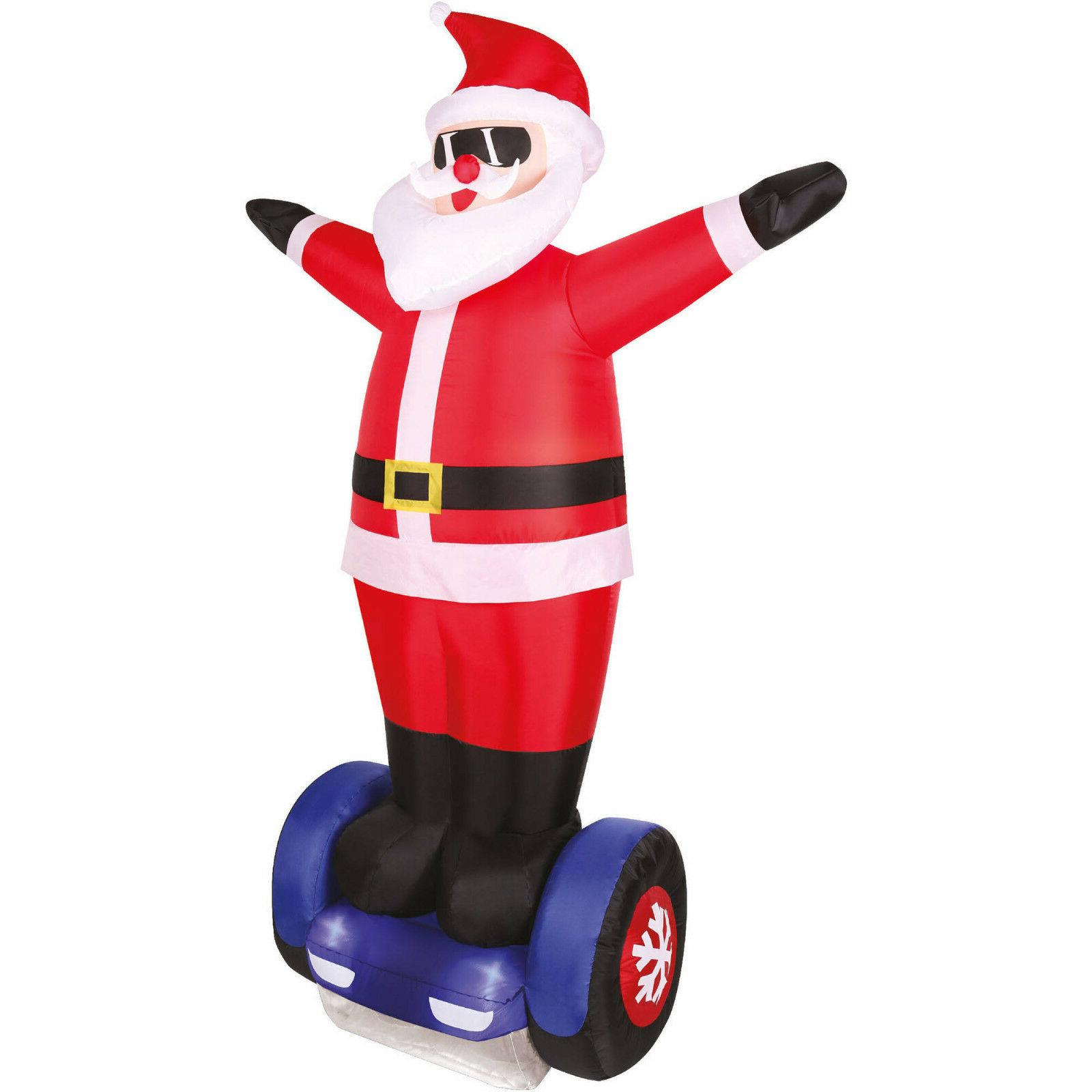 New 7' Airblown Self Inflatable Hover Santa lighted Christma