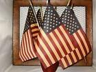 LOT OF 6 American Flag Mini Tea Stained Patriot VETERANS DAY