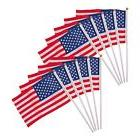 10Pcs 4x6 American USA National Hand Held Flags Small Banner