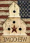 "Americana Welcome House Flag Primitive Patriotic 28"" x 40"" B"