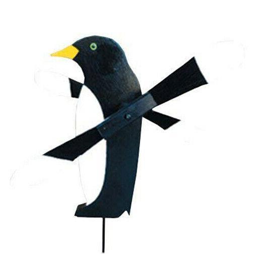amish made whirlybird yard decoration penguin