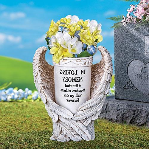 Collections Etc Wings Memorial Decor Yard Stake,