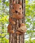 Animal Tree Hugger Squirrel Yard Garden Art Outdoor Country