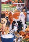Animals in the Barn Spring Garden Flag Country Dogs Cats Cow