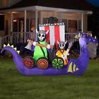 GEMMY Animated Viking Ship Halloween Airblown Inflatable Lig