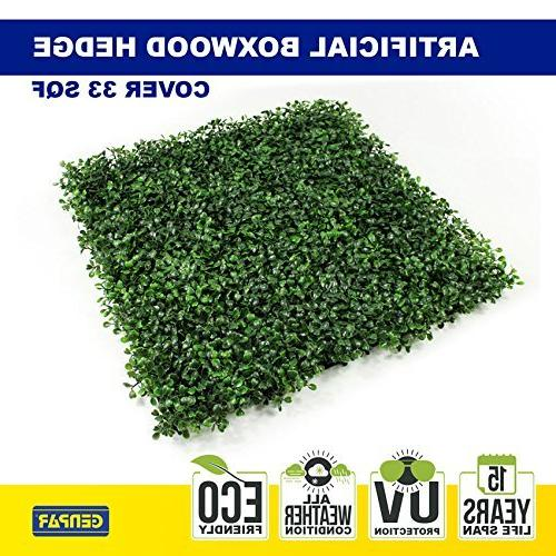 GENPAR Boxwood Covers SQ Feet 12 Panels UV 15 Years Indoor Topiary Home Backyard Decoration Privacy Fence