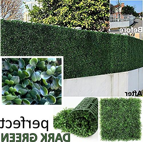 artificial boxwood hedge covers 12