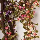 Artificial Rose Garland Silk Flower Vine for Valentine Home