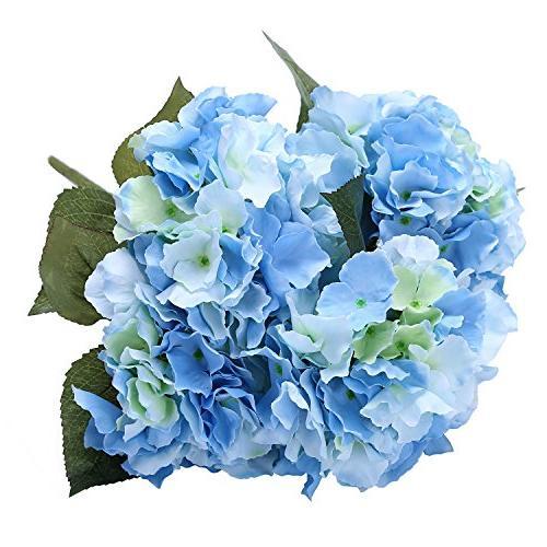 artificial silk hydrangea bouquet fake