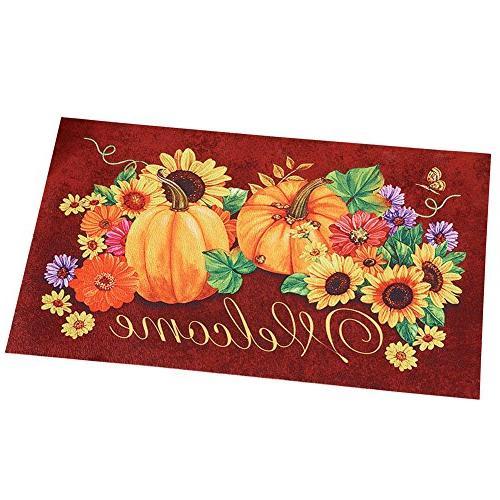 autumn welcome sunflower door mat