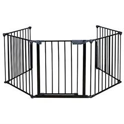 TMS Baby Safety Fence Hearth Gate BBQ Metal Fire Gate Firepl