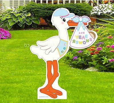 baby shower yard stork sign decoration