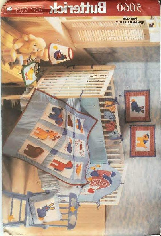 barn yard baby s room decor pattern