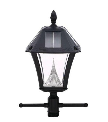 Gama Sonic GS-105S-G Baytown Ez Anchor Lamp, Post, Bright Wh
