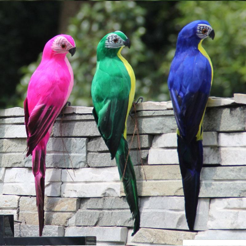 Simulated Parrot Bird Animal Lawn Beautiful Foam Figurine Or