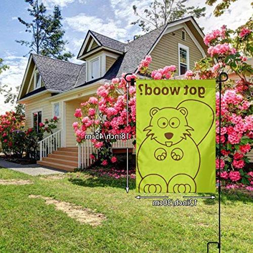 "BRENDA Beaver Wood Garden X 18"" Decorative House Yard for Indoor Outdoor Sweet Home - Polyester Premium Assortment"