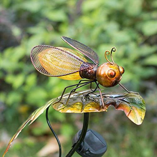 Bee Leaf-HAPJOY Garden Solar Lights Solar Pathway Stakes Waterproof for