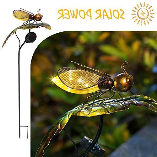 bee leaf garden solar lights