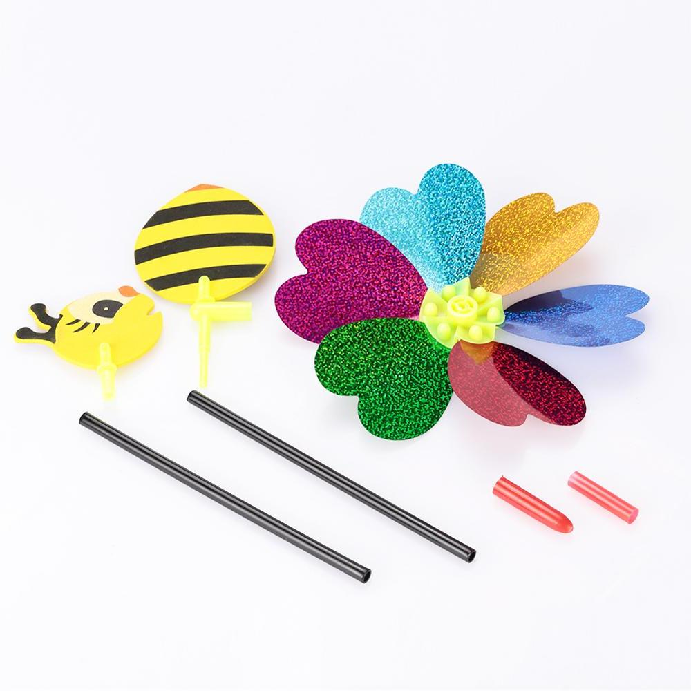 Bee Windmill Colorful 3D Spinner Whirligig Toys Garden <font><b>Decor</b></font> Outdoor Lawn <font><b>Decor</b></font>