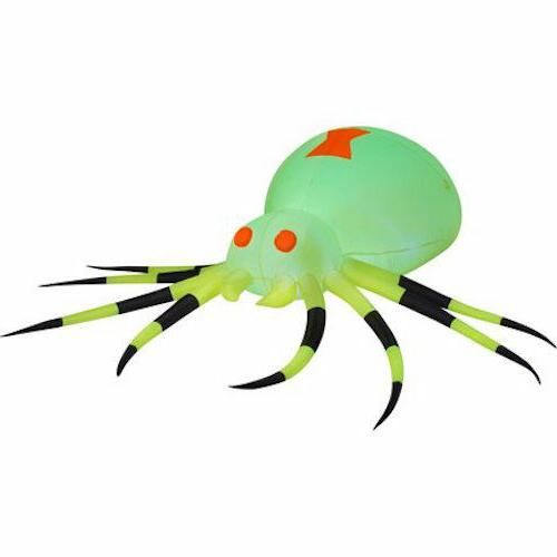 Big Neon Green Spider Airblown Inflatable Halloween Yard Dec