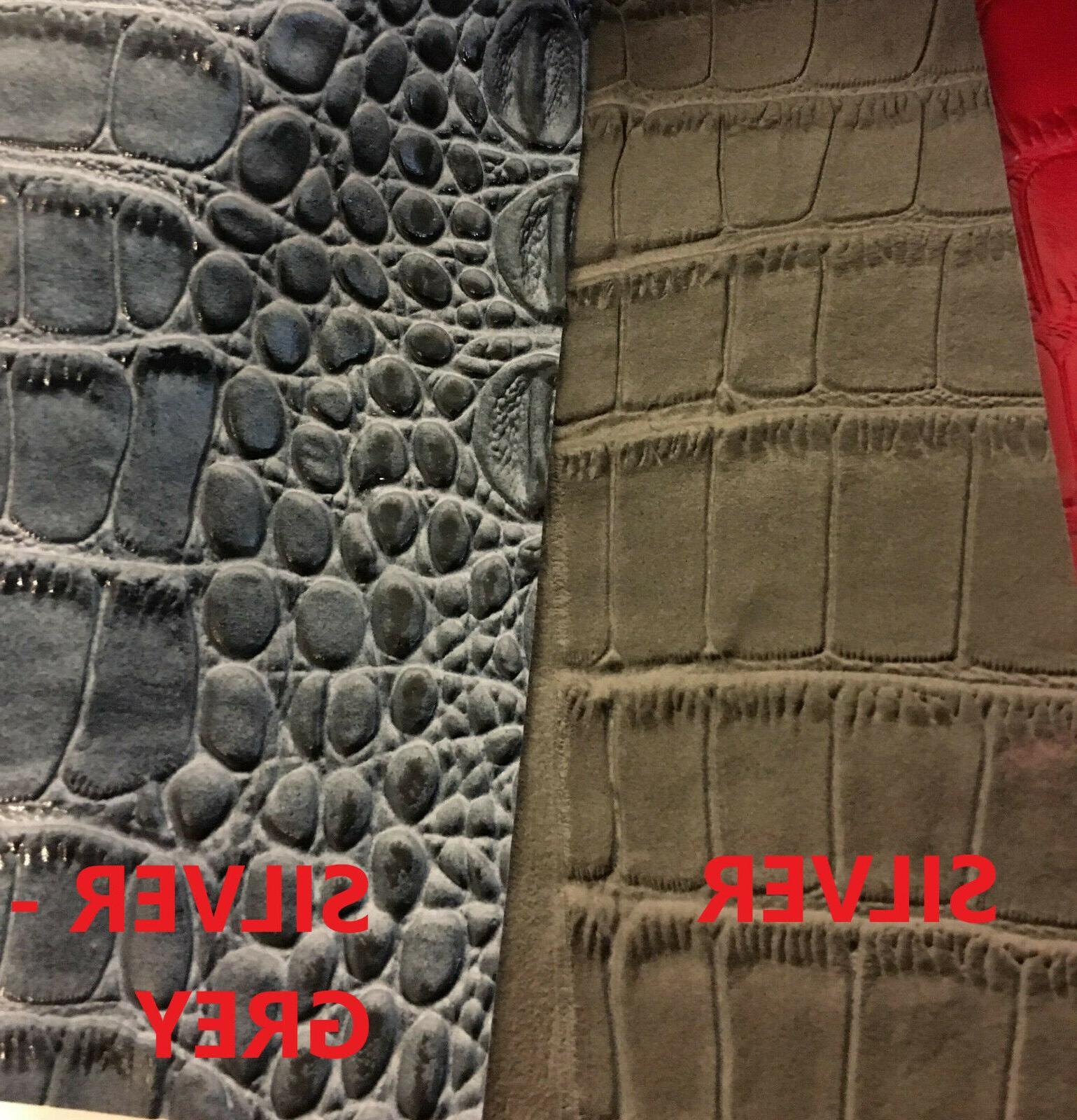 BIG CROCODILE 3D Texture Faux Leather Vinyl