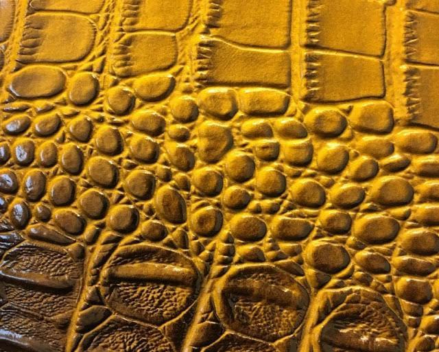 BIG CROCODILE 3D Texture Leather Vinyl Fabric YARD