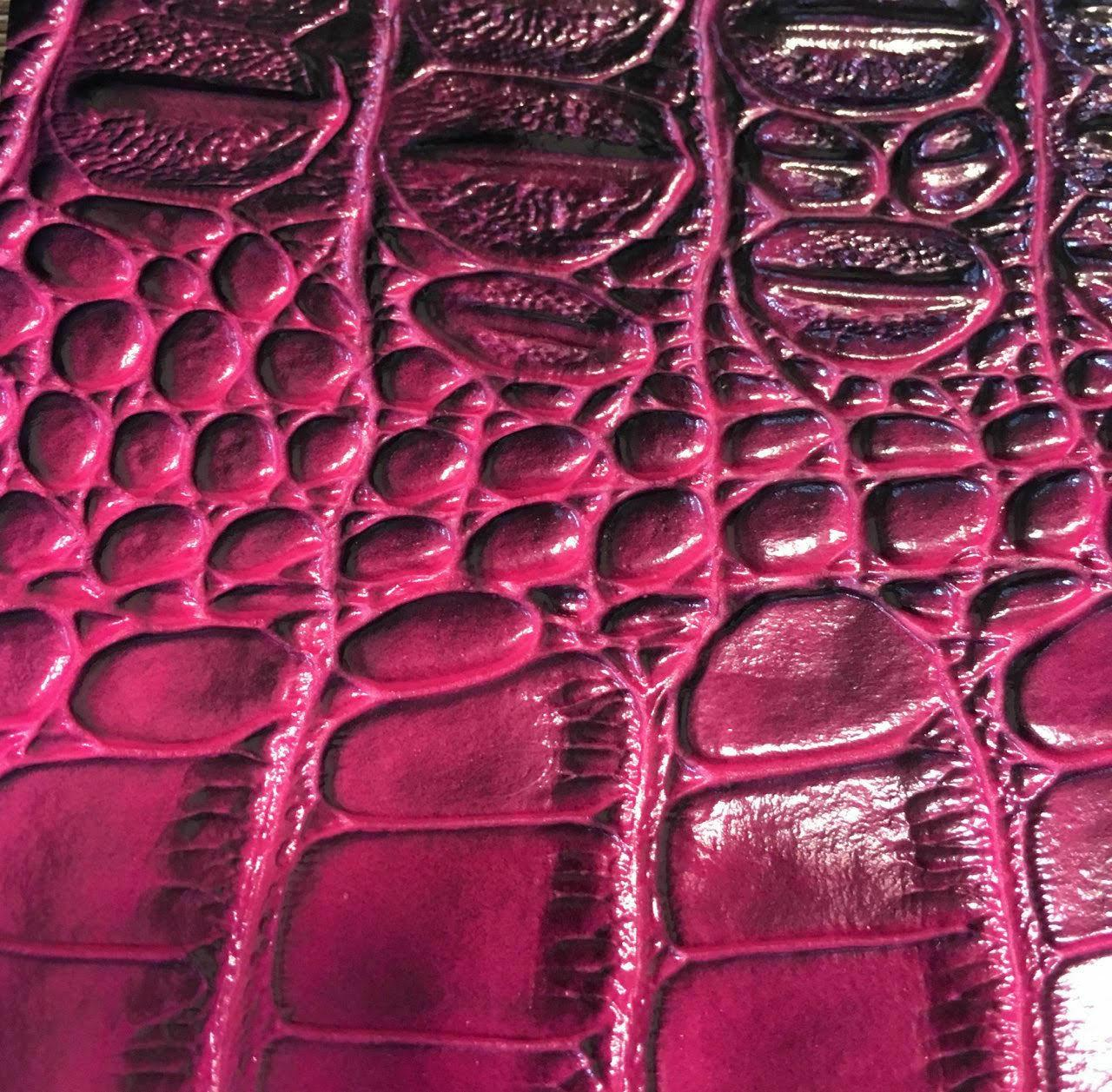 BIG NILE CROCODILE Texture Vinyl Fabric