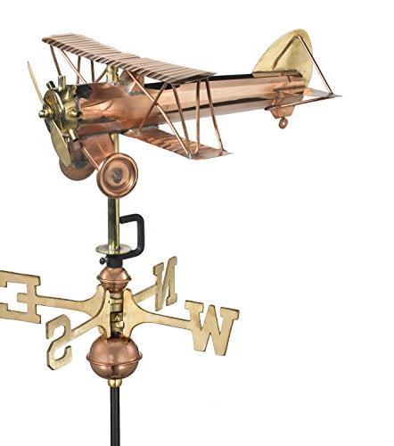 8812pg biplane garden weathervane